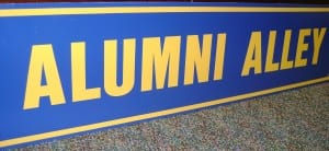 Come back to the school to walk down 'Alumni Alley', a hallway dedicated to our alumni!